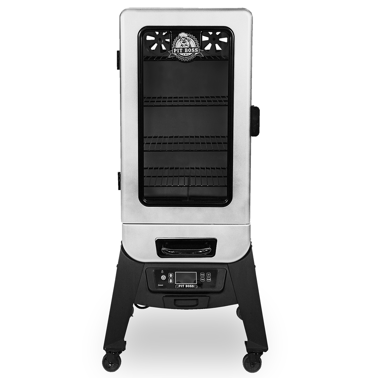 Pit Boss 3-SERIES VERTICAL WOOD PELLET SMOKER - SILVER HAMMERTONE