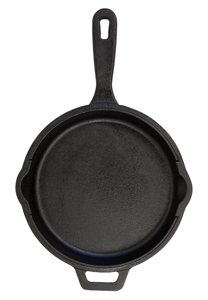 PB 10 Cast Iron Deep Skillet with Lid