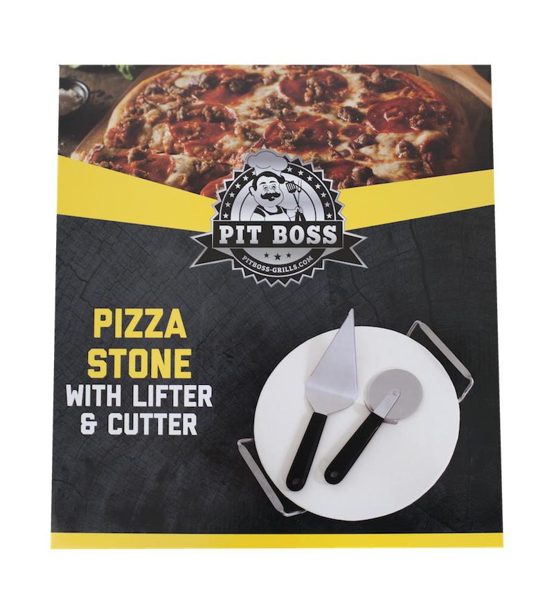 Pit Boss Pizza Stone with Lifter Cutter