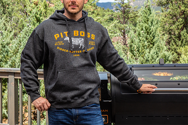 Men's Charcoal Heather Grilling Master Hoody