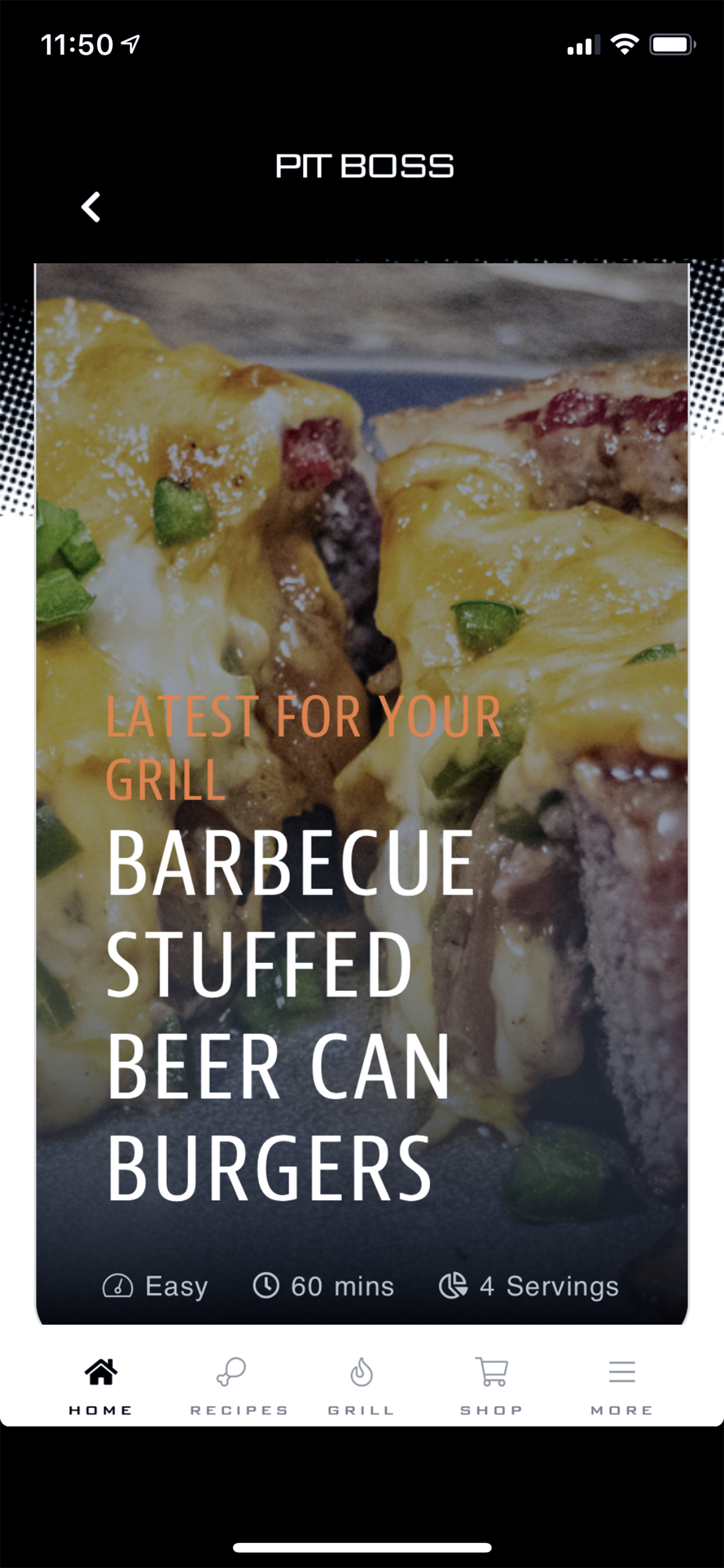 pit boss grill app home screen example