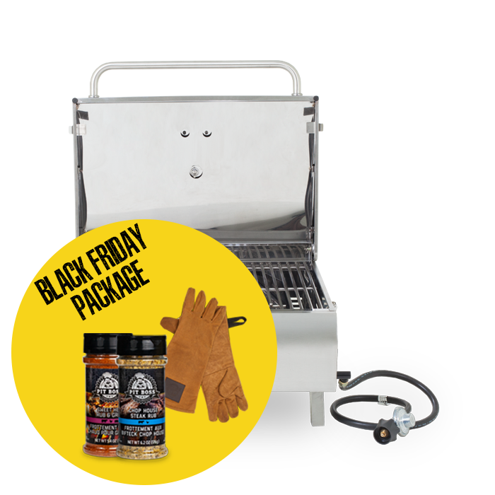 STAINLESS STEEL 2-BURNER GAS GRILL & ACCESSORIES