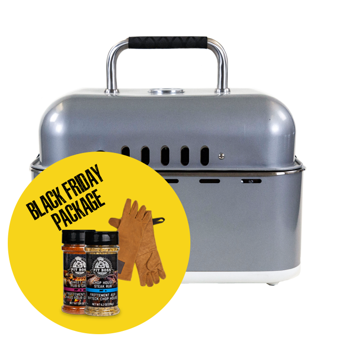 SMOKELESS CHARCOAL GRILL & ACCESSORIES PACKAGE