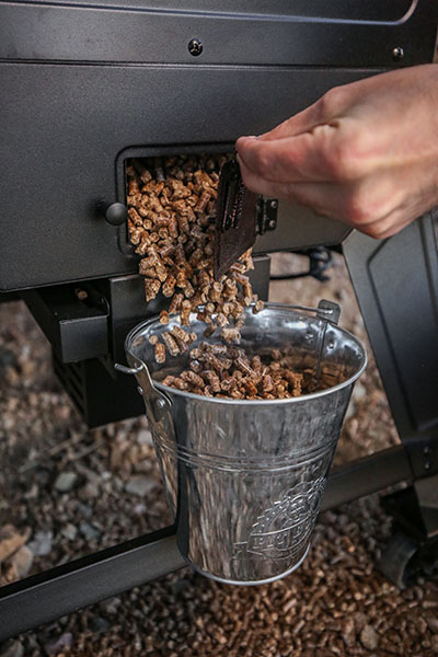 hopper cleanout and vertical smoker image