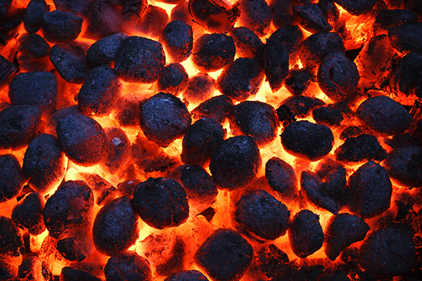 image of ignited charcoal