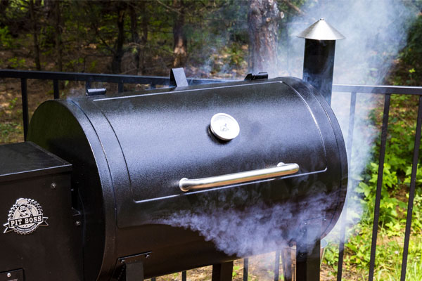Image of grill smoking