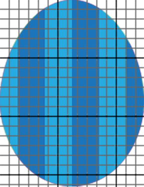 Perler Bead blue egg with teal stripes