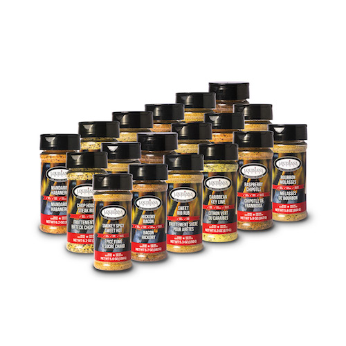 Louisiana Grills Spices & Rubs — 5 oz Sampler Pack — 18 Spices