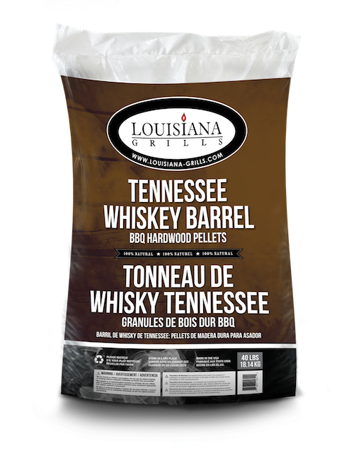 Louisiana Grills Pellets, 40lb, Tennessee Whiskey Barrel (100% Oak)