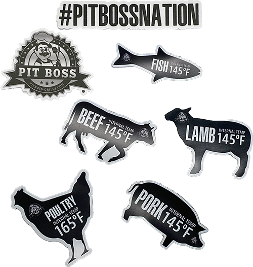 Pit Boss Animal Temp Magnets and Sticker Pack