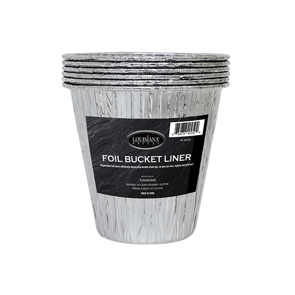Disposable Foil Bucket Liners - 6 Pack