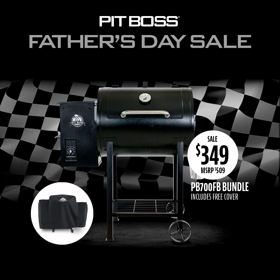 Pit Boss 700FB Pellet Grill Father's Day Bundle with Cover