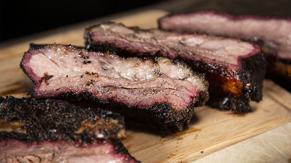 Smoked Sweet Heat Beef Ribs