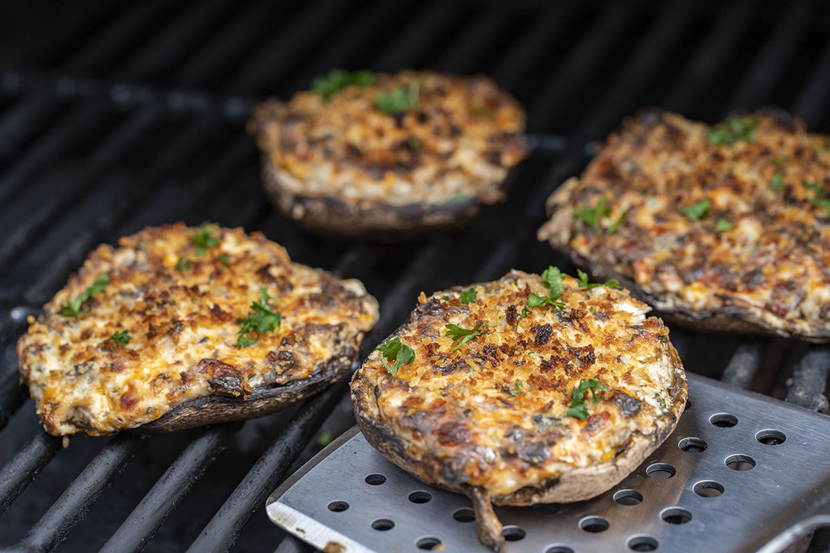 Beef Brisket Stuffed Mushrooms