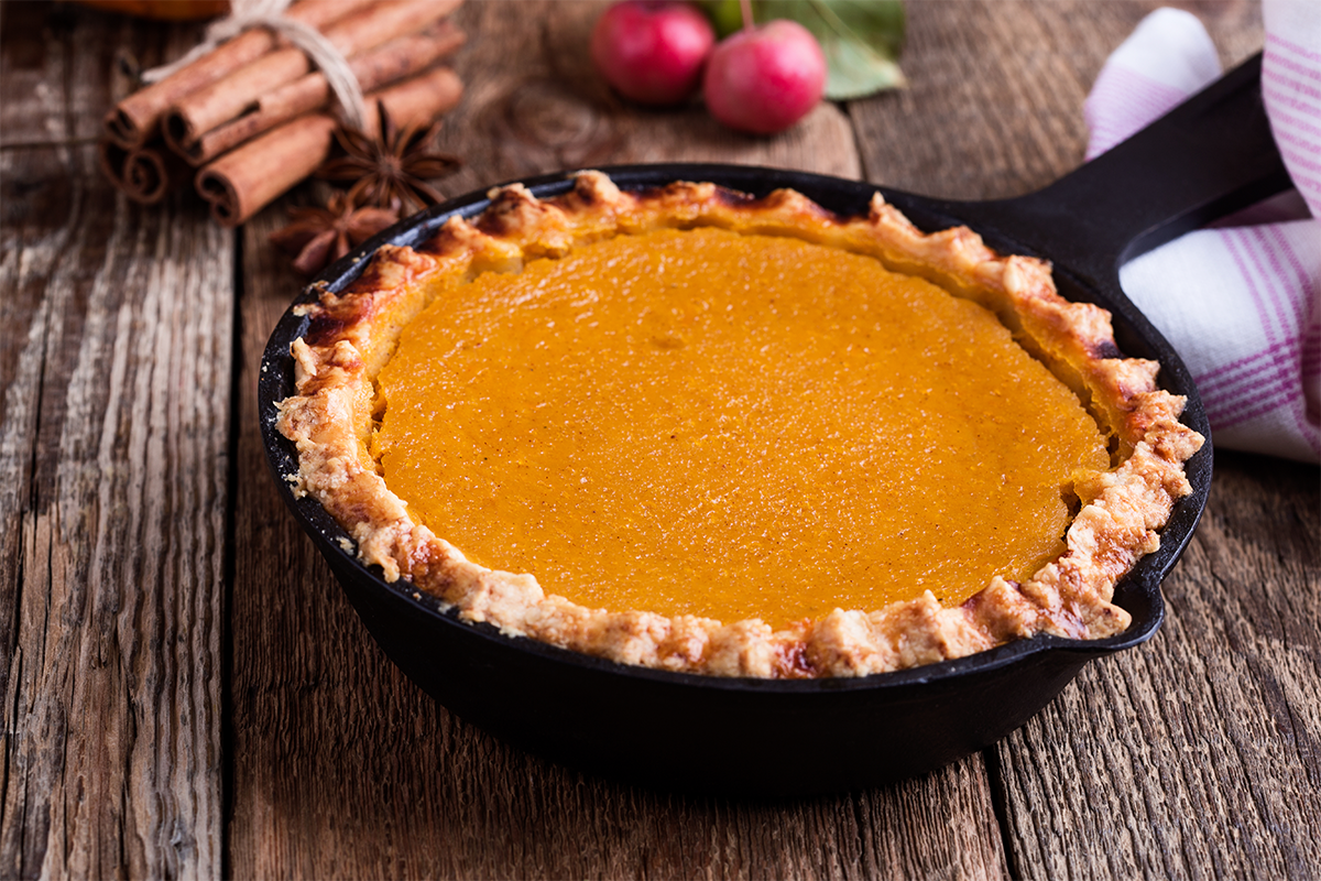 Skillet Pumpkin Pie