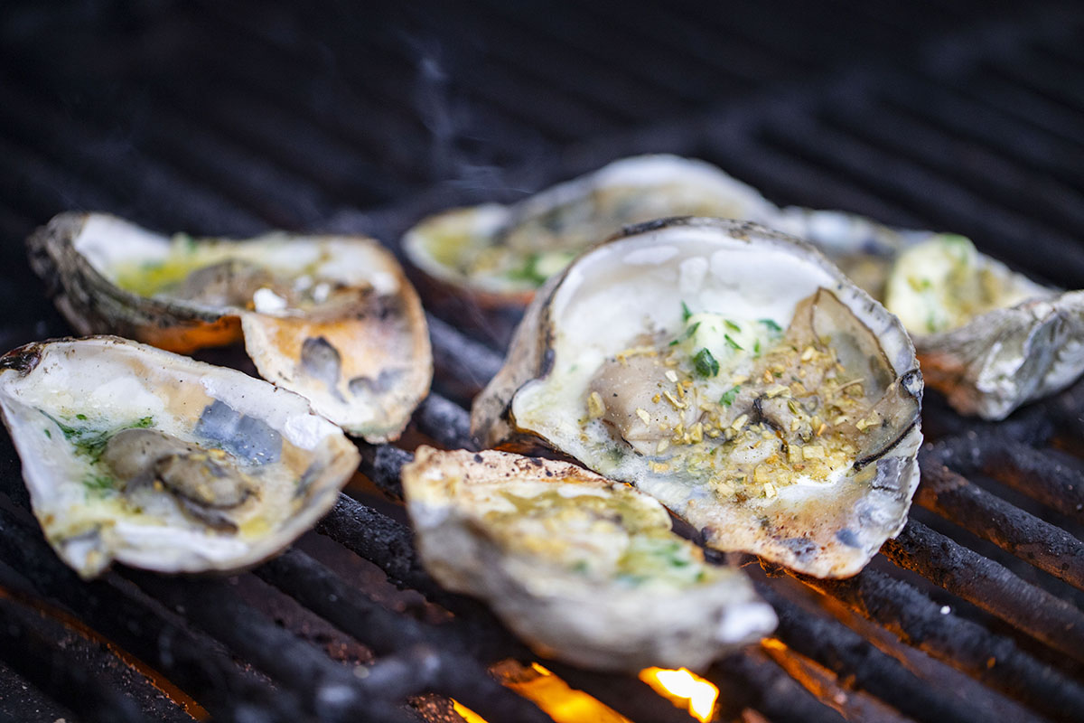 Grilled Oysters with Hot Butter