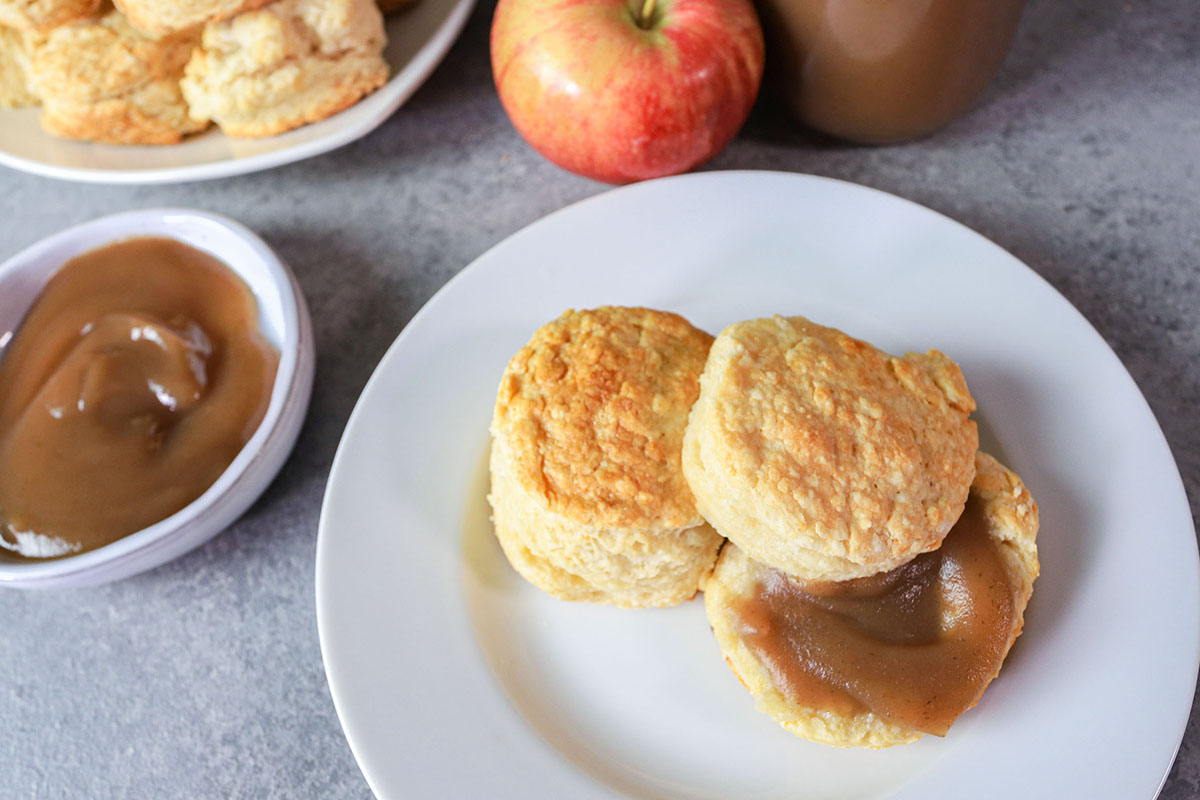 Smoked Apple Butter with Buttermilk Biscuits