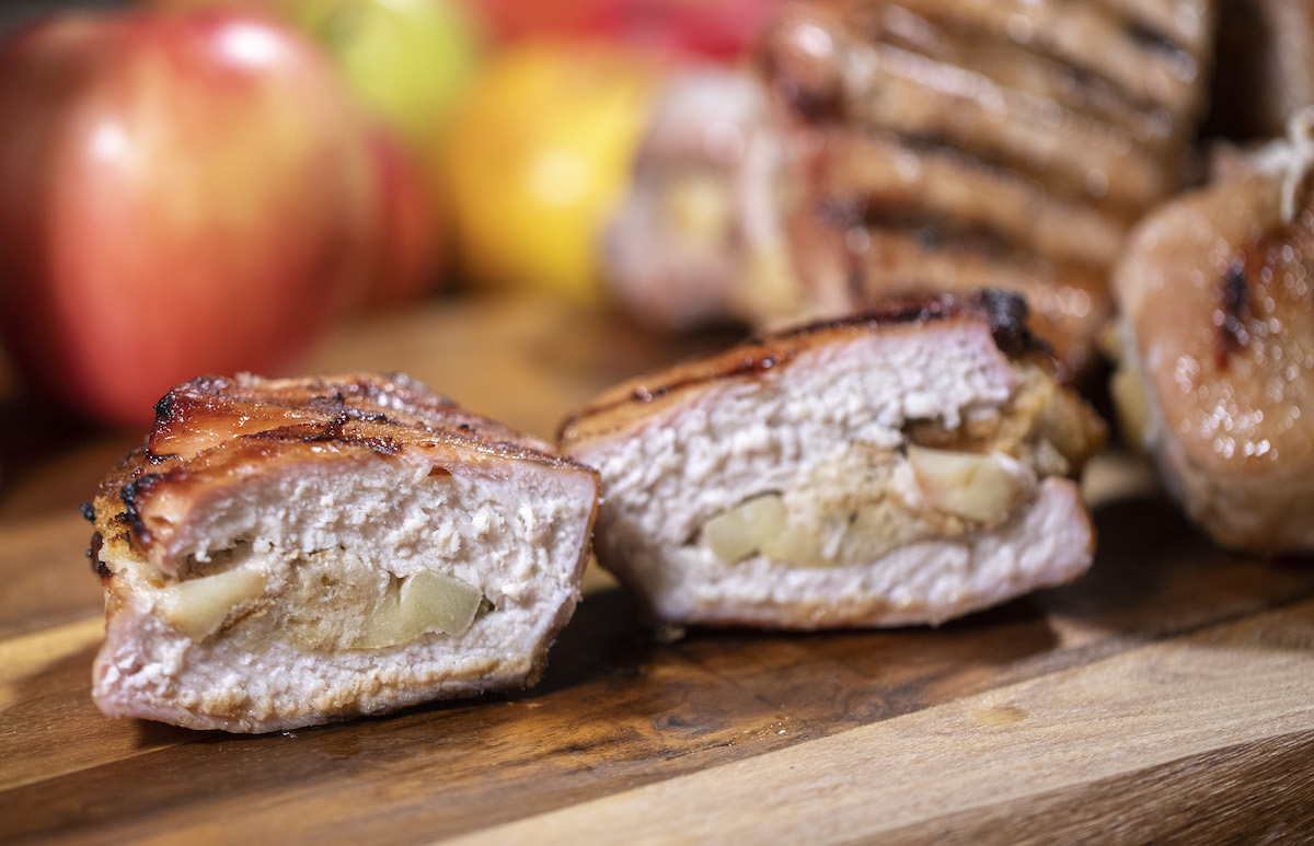 Apple Stuffed Pork Chops