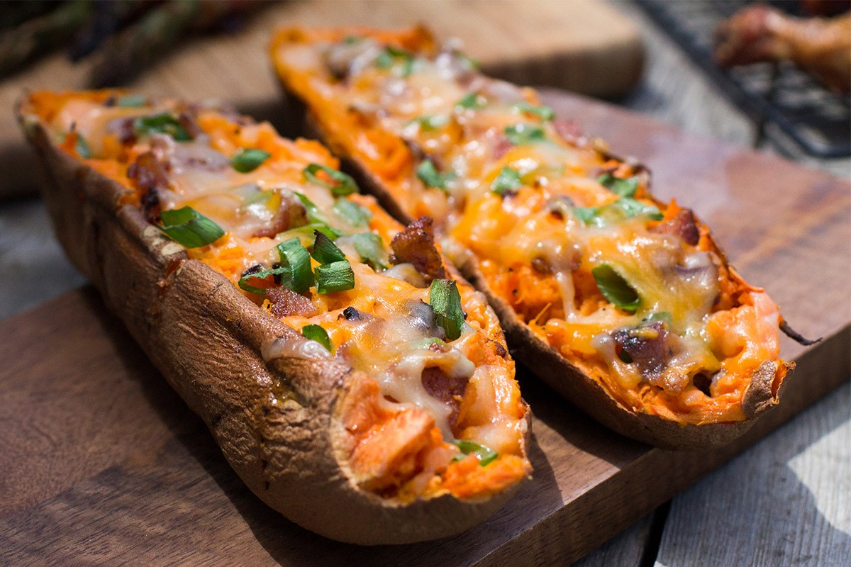 Double Stuffed Sweet Potatoes