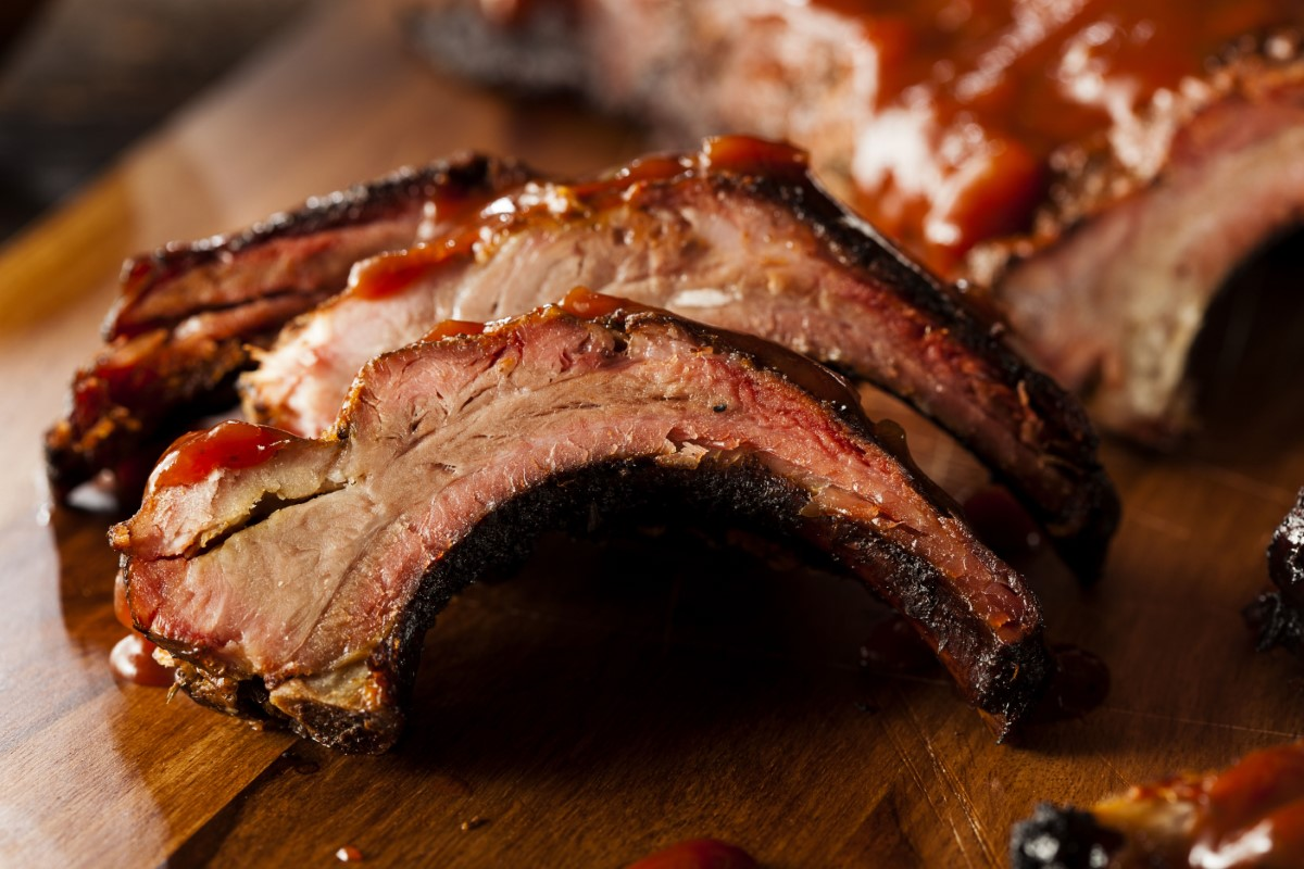 Smoked BBQ Pork Spare Ribs