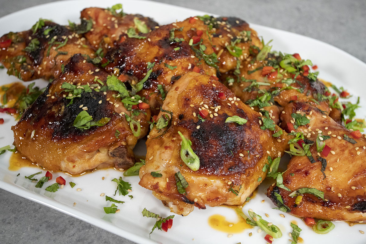 Grilled Thai Chicken Thighs