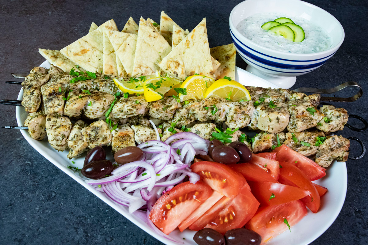 Grilled Greek Chicken Souvlaki Louisiana Grills Recipes