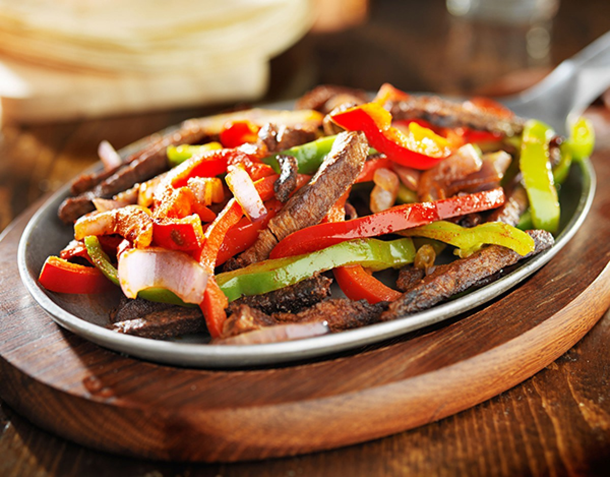 Grilled Flank Steak Fajitas