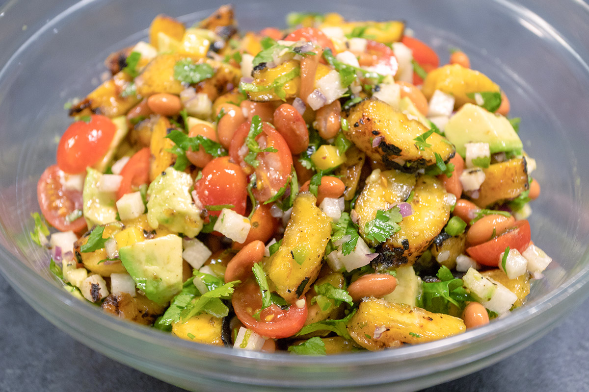 Grilled Plantain Salad