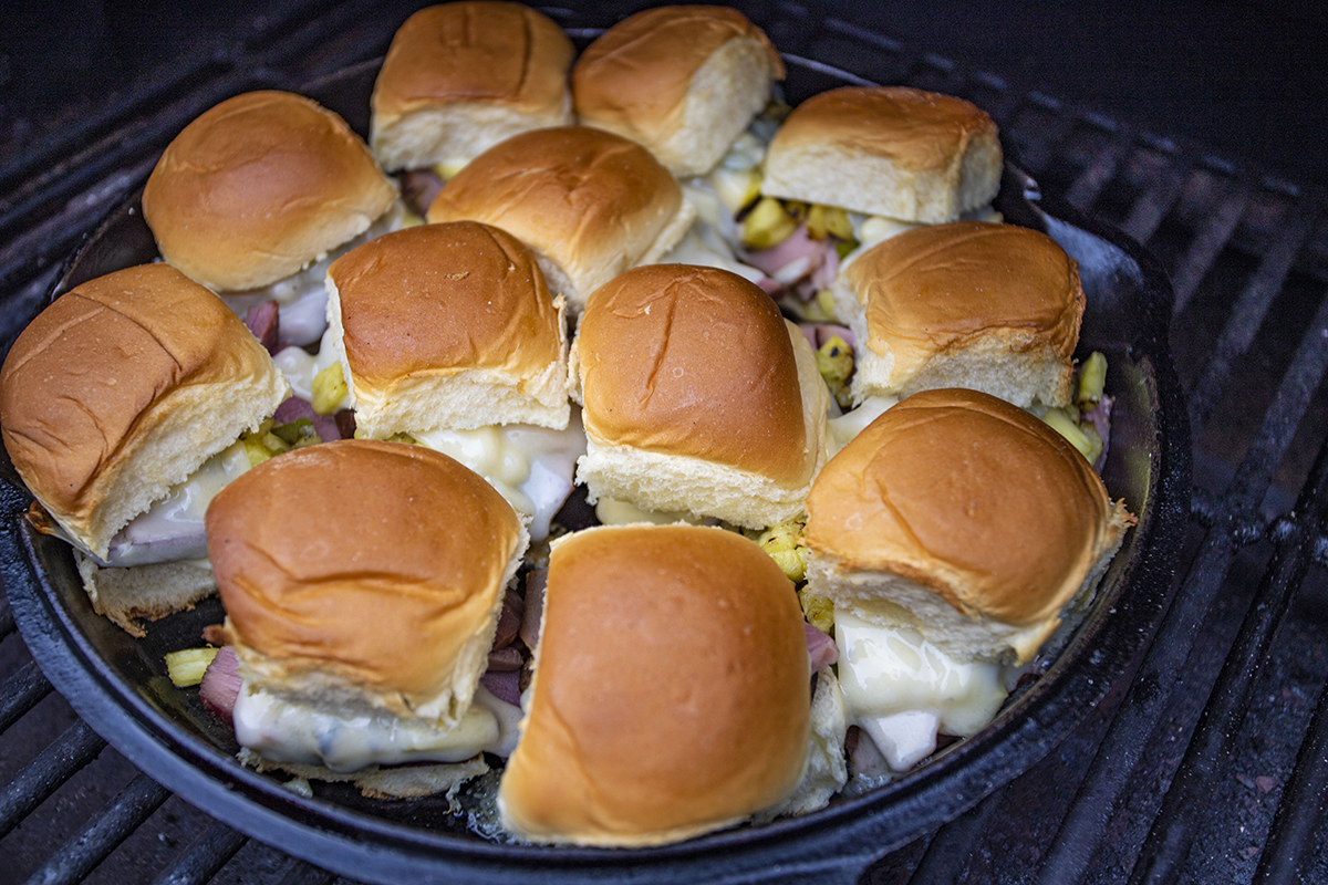 Hawaiian Roll Sliders with Twice Smoked Ham