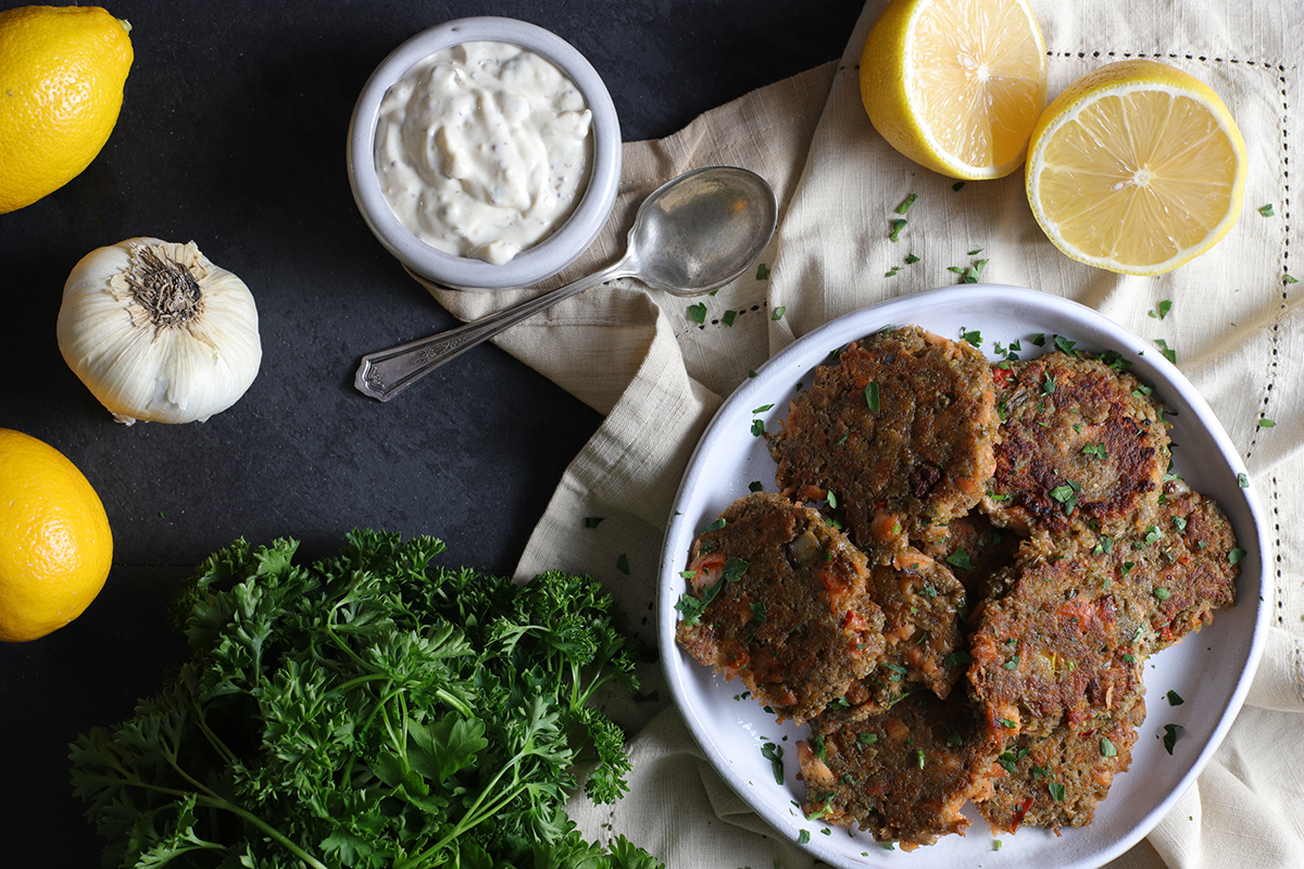 Salmon Cakes and Homemade Tartar Sauce