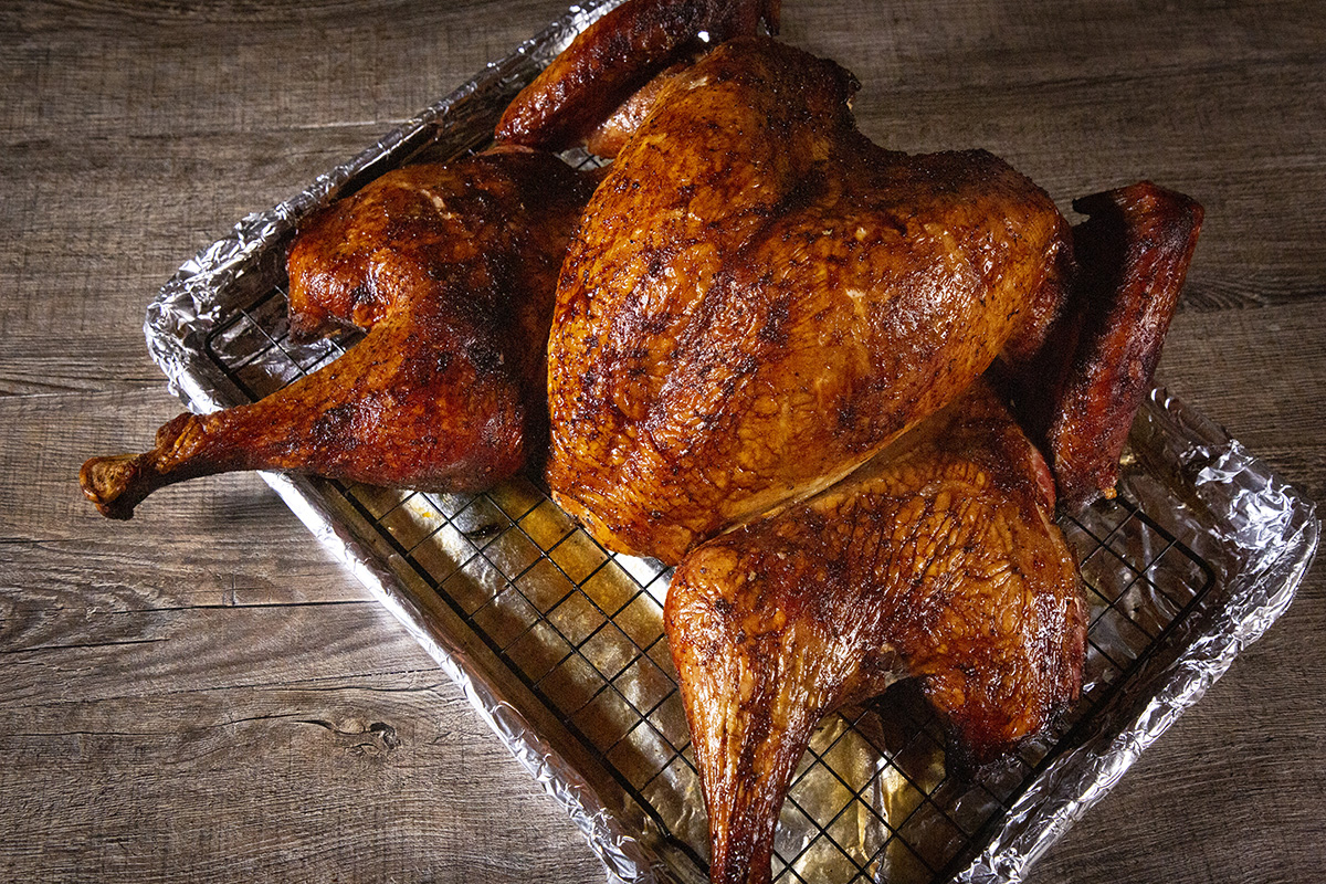 Cajun Smoked Spatchcock Turkey