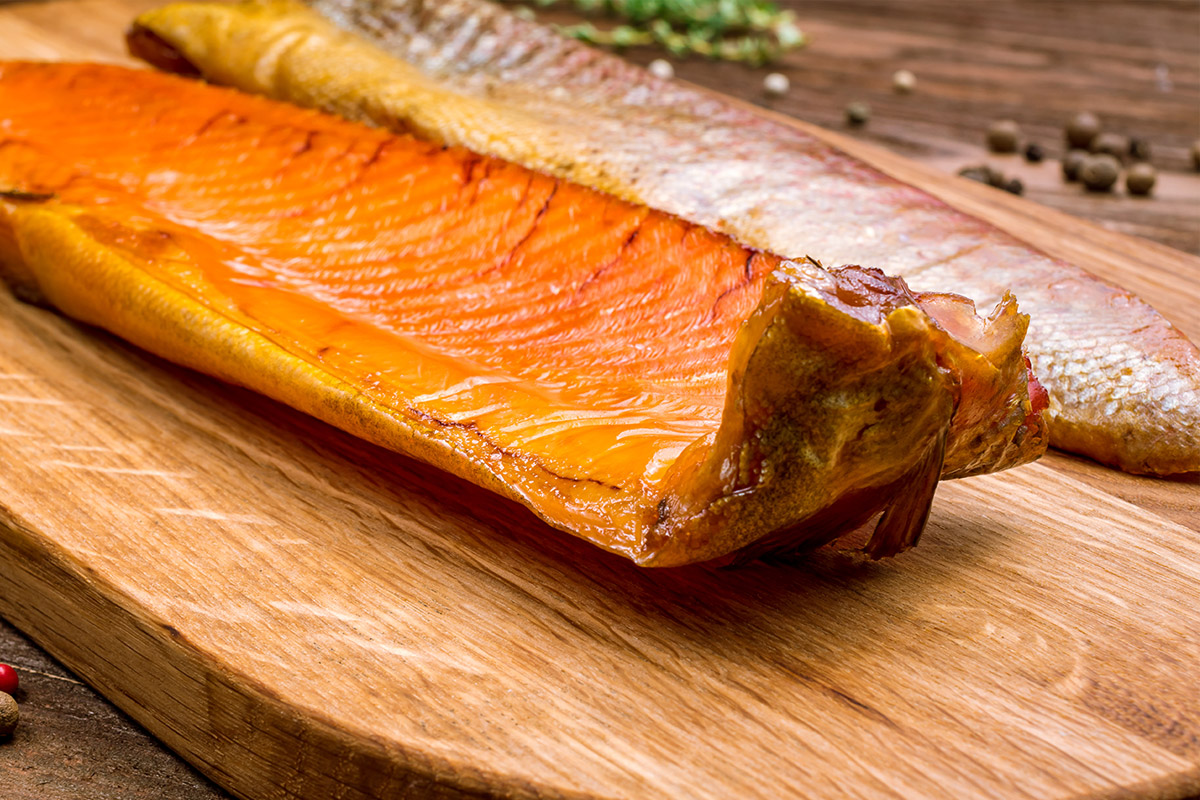 Dry Brined Hot Smoked Trout