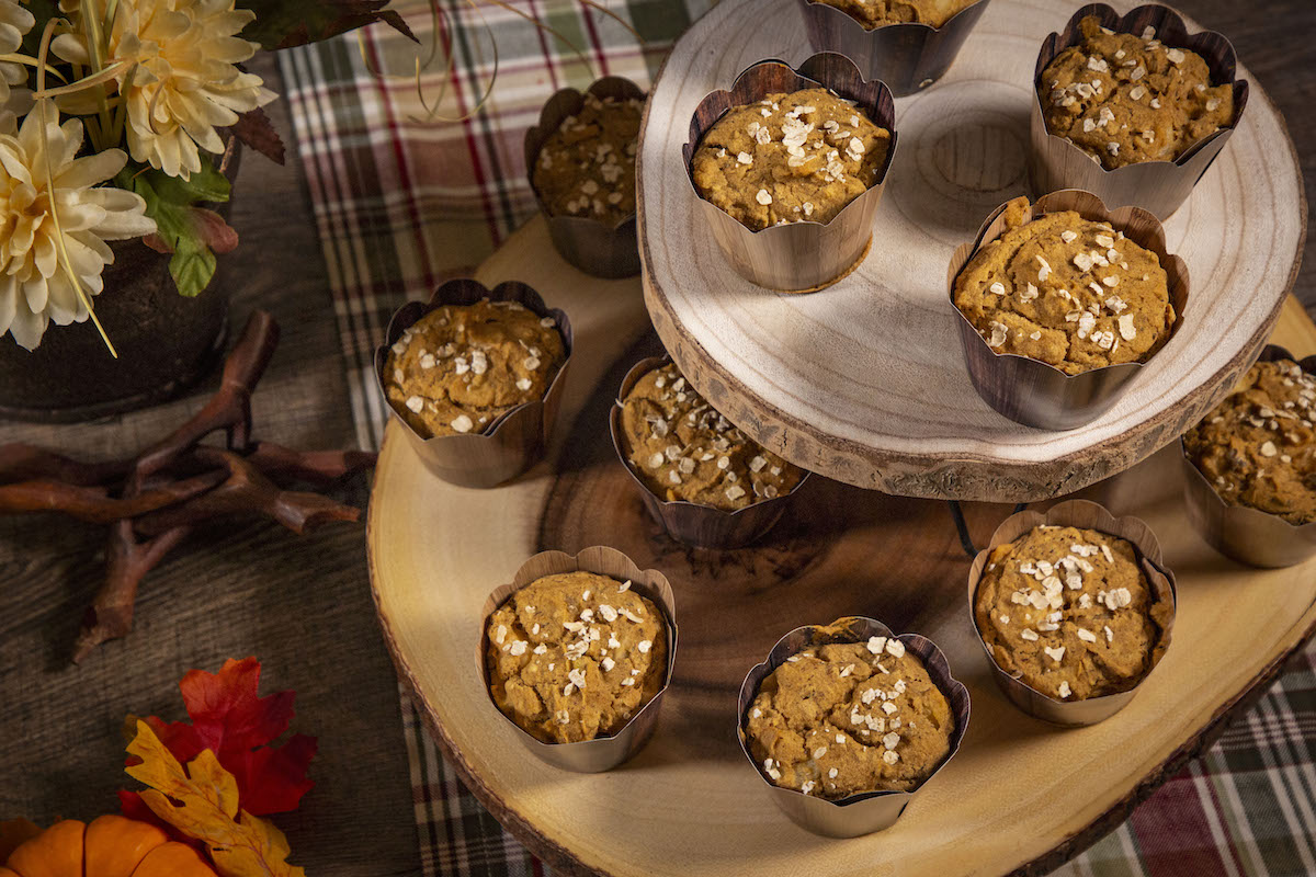Gluten Free Vegan Pumpkin Apple Muffins