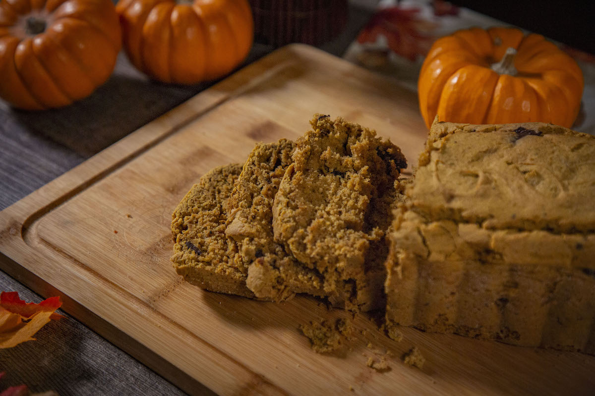 Gluten Free Chocolate Chunk Pumpkin Bread