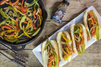 Fajita Style Mexican Hot Dogs