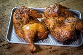 Smoked Whole Chicken with Honey Glaze