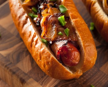 Grilled Bacon Dog