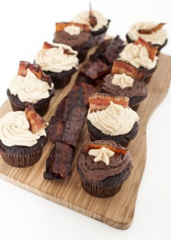 Chocolate Bacon Cupcakes