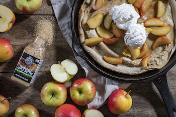 Dutch Baby with Bourbon Apples