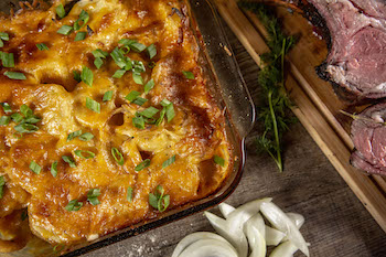 Smoked Scalloped Potatoes