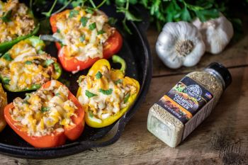 BBQ Chicken Stuffed Bell Peppers