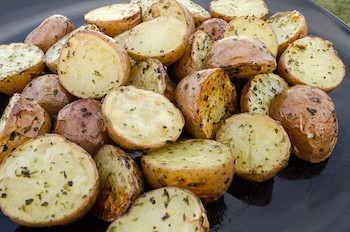 Grilled Garlic Potatoes