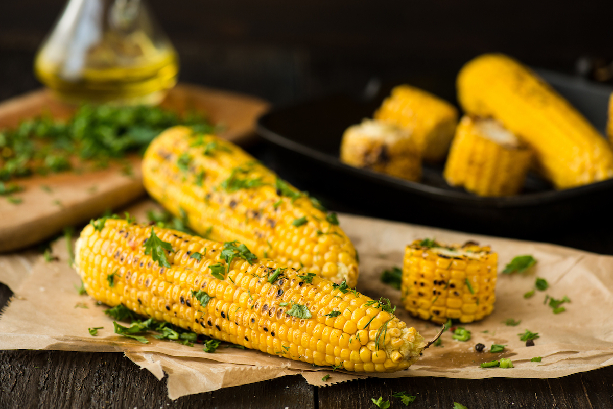 Cilantro Lime and Garlic Corn on the Cob