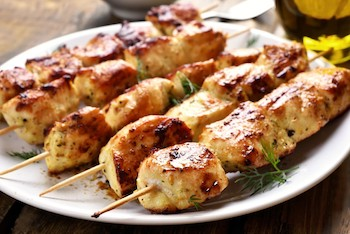 Jerk Chicken Kebabs