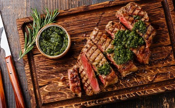 Sirloin Steak with Chimichurri Sauce