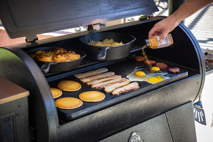 Pit Boss 14x28 Cast Iron Griddle w/ Free 8in Skillet